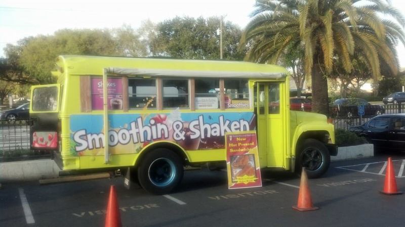 Smoothie and ice cream truck