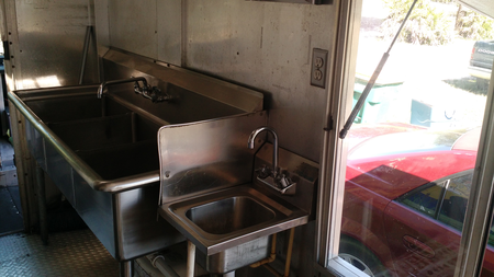 3 Compartment Sink and Handwash Sink