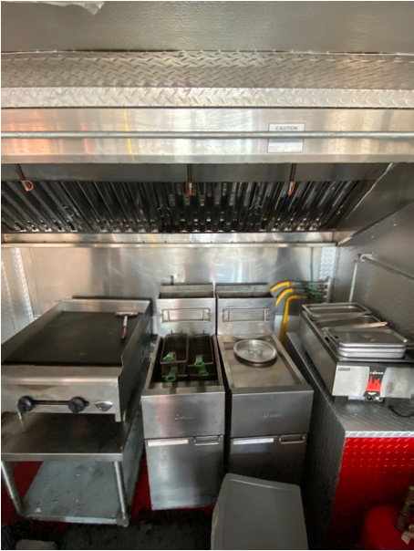 Food Truck Cookline With Suppression