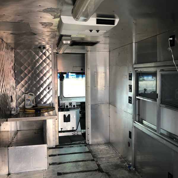Inside Used Food Truck For Sale