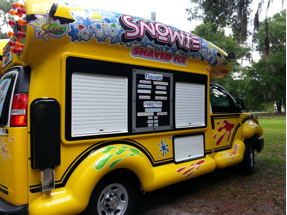 Serving Side of Shaved Ice Truck For Sale