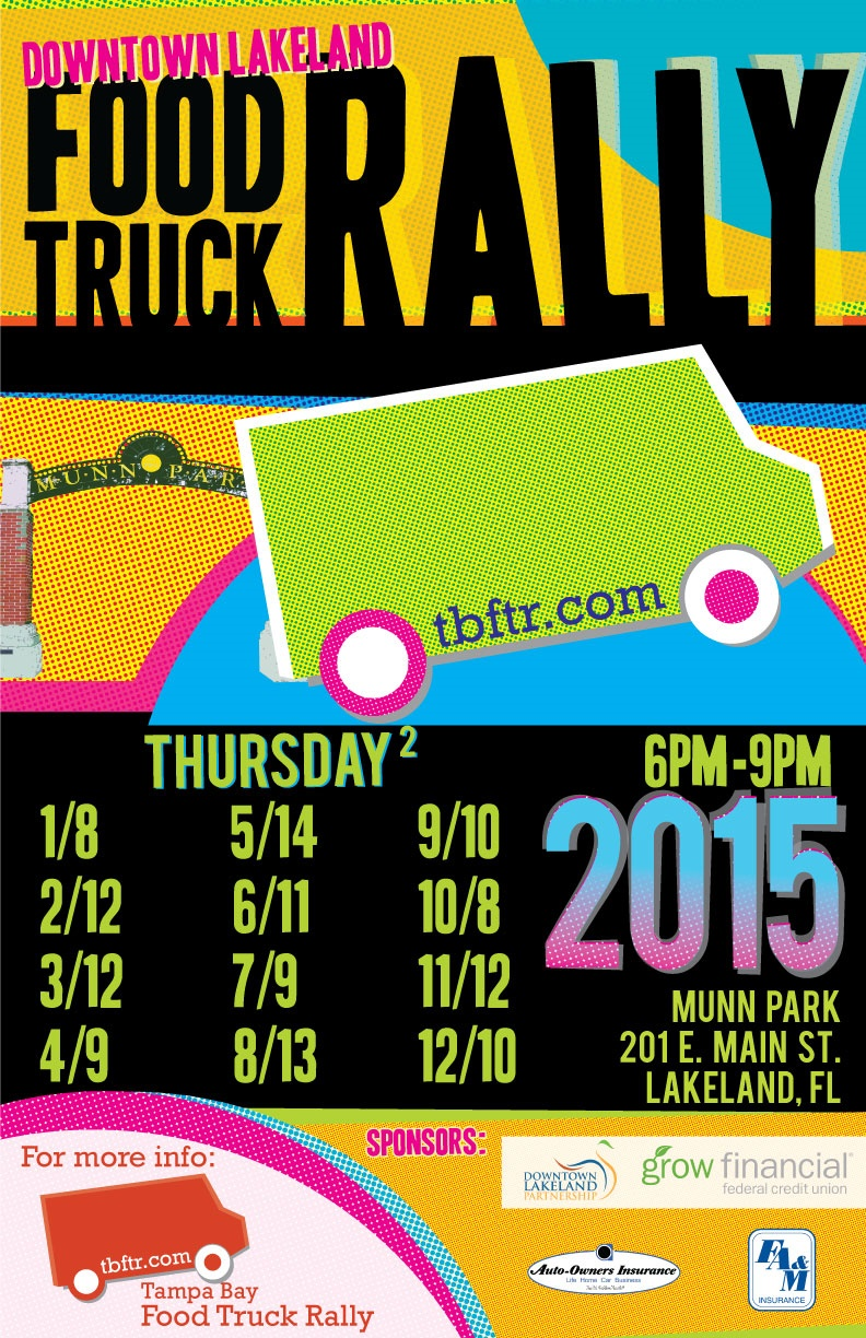 Lakeland Food Truck Rally Flyer