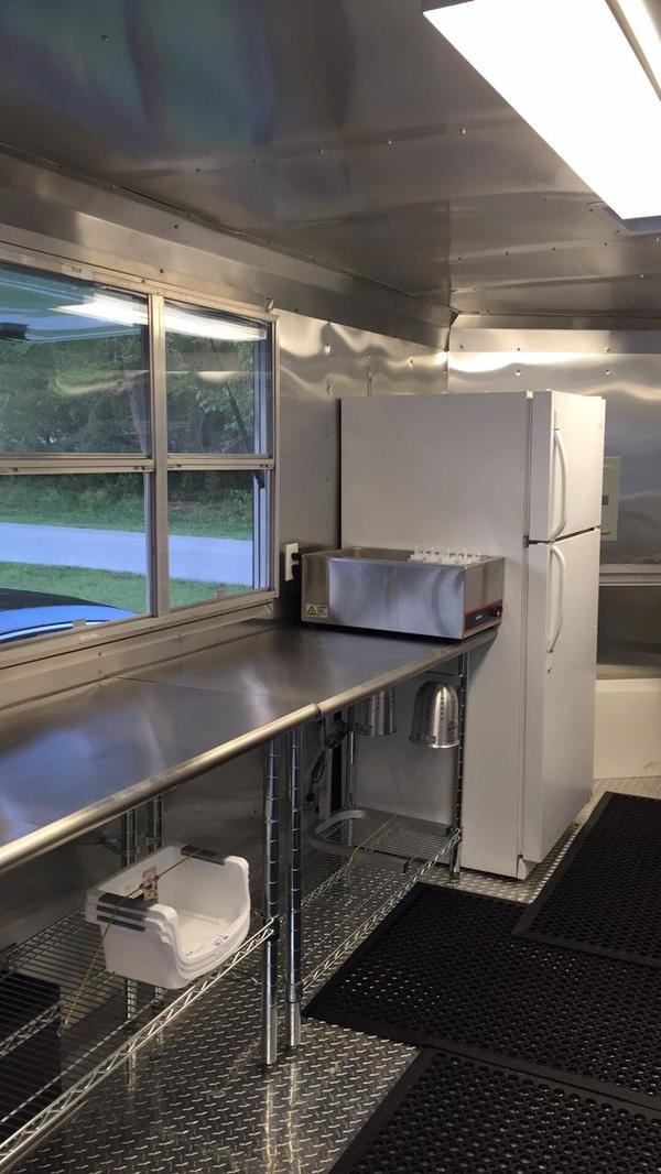 Used Food Trailer Stainless Interior
