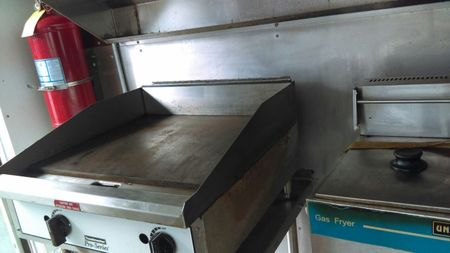 Gas griddle and gas fryer
