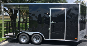 New 2018 Black Food Trailer for Sale