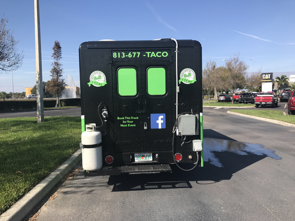 Butt of a Food Truck