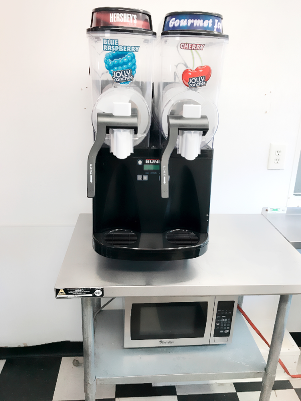 Close up of Bunn Ultra Slushie Machine
