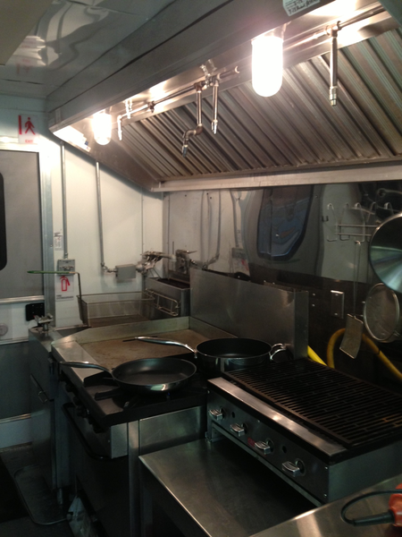 Kitchen of food trailer for sale
