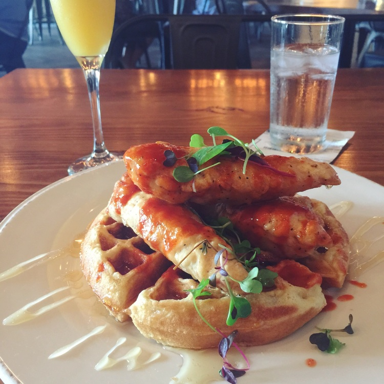 Chicken and Waffles Photography Angle