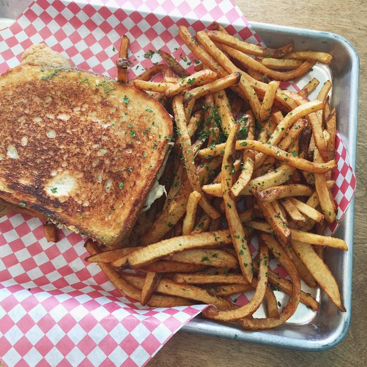Grilled Cheese and French Fries