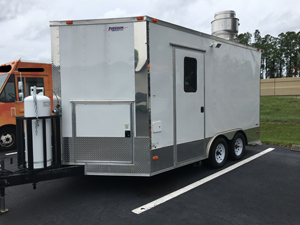 Used White Food Trailer for Sale in Tampa, Florida