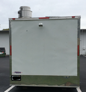 Back view of trailer