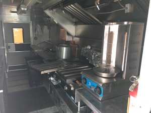 Interior View of Food Truck