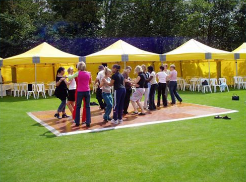 Daytime Photo of Mobile Dance Floor