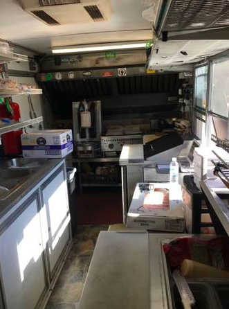 Interior View of Food Trailer