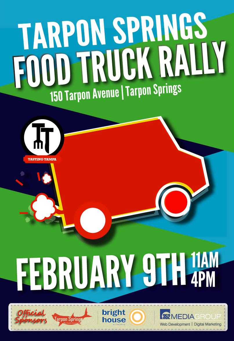 Tarpon Springs Food Truck Rally February 9th