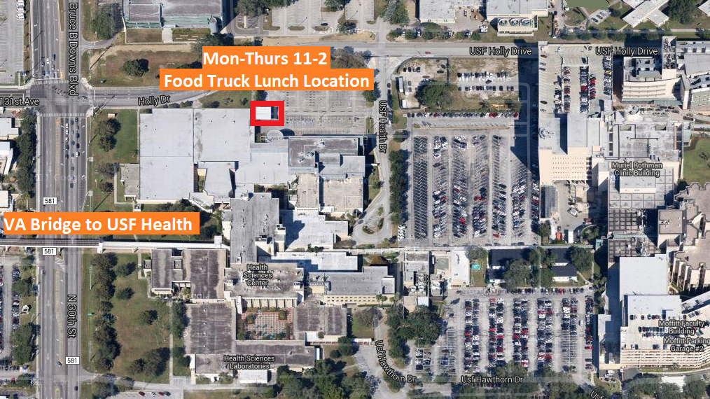 USF Health Food Truck Location Map