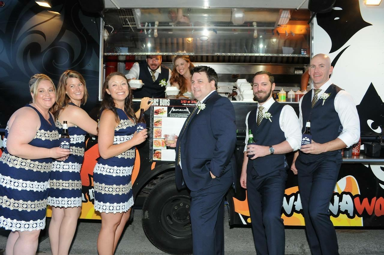 Wedding Party by Food Truck