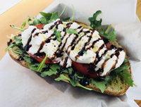 Williamsburg Cucina Open Faced Caprese Sandwich