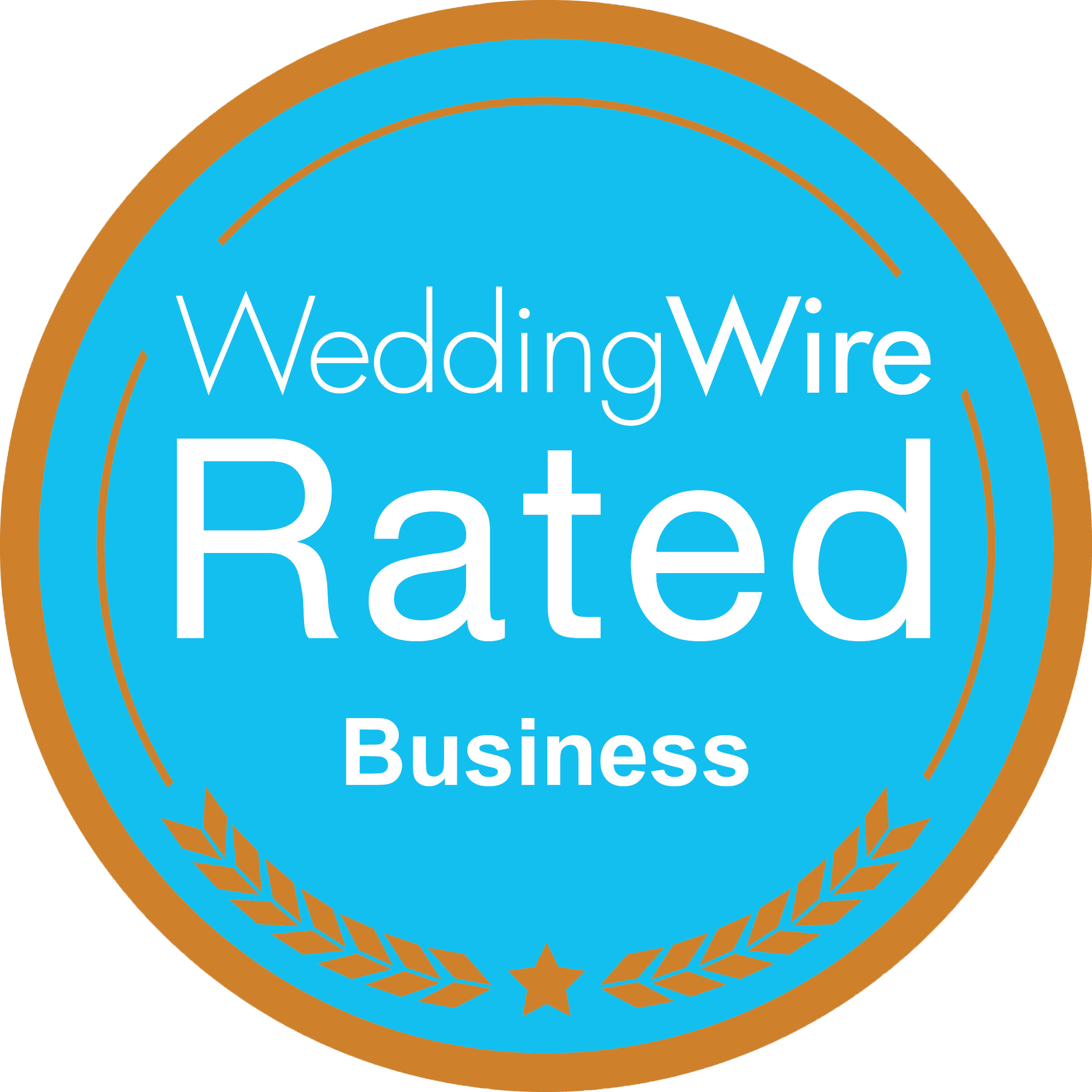 WeddingWired Rated Business