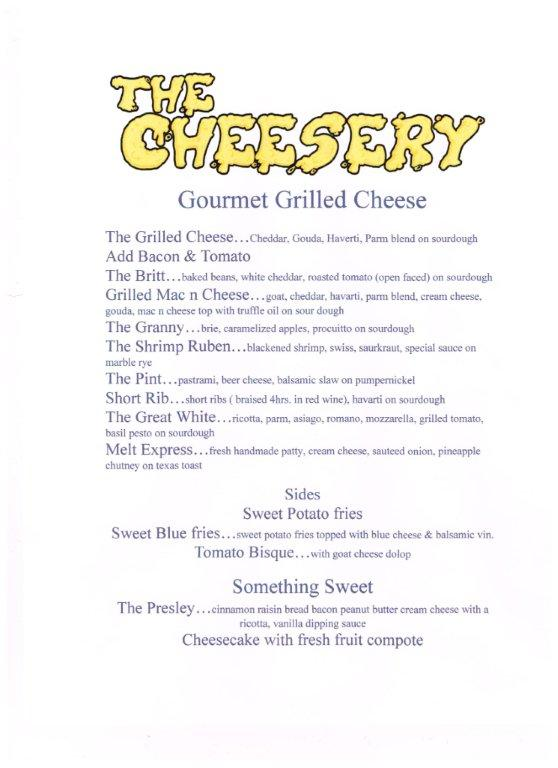 The Cheesery Menu