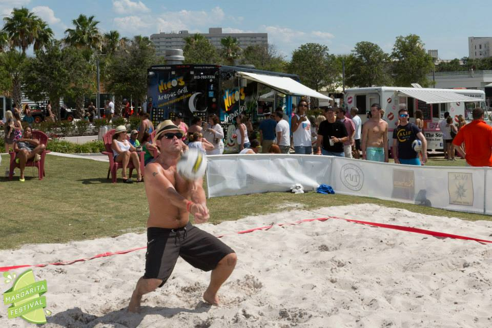 Beach Volleyball being played at Tampa Bay Margarita Fest