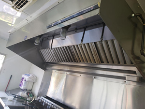 Hood of used food trailer for sale in Tampa Florida