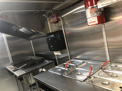 Interior of Food Trailer for Sale in Tampa Florida